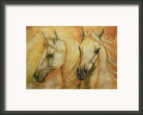 Autumn Horses Framed Print By Silvana Gabudean