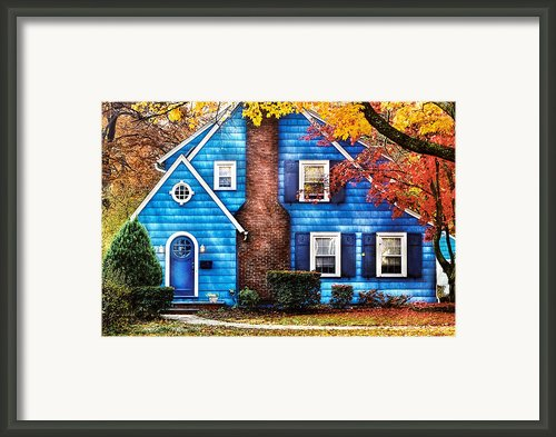 Autumn - House - Little Dream House  Framed Print By Mike Savad