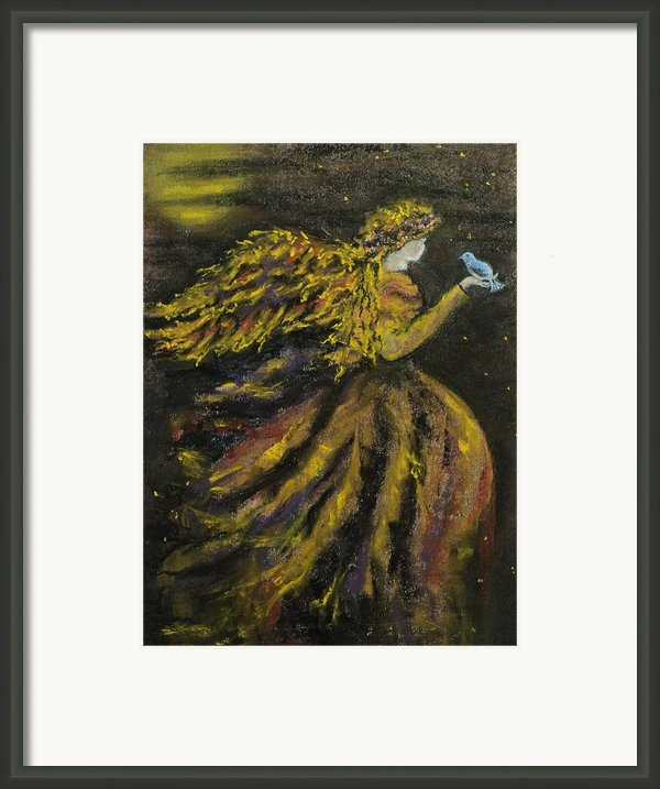 Autumn Moon Angel Framed Print By Carla Carson