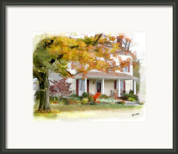 Autumn On The Farm Framed Print By Bill Losey