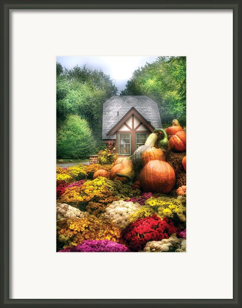 Autumn - Pumpkin - This Years Harvest Was Awesome  Framed Print By Mike Savad