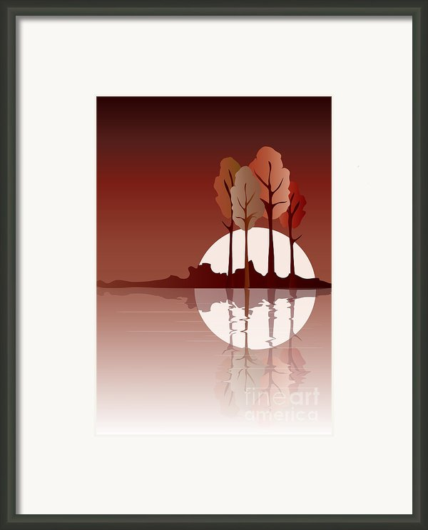 Autumn Reflected Framed Print By Jane Rix
