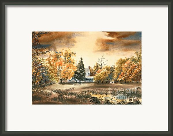 Autumn Sky No W103 Framed Print By Kip Devore