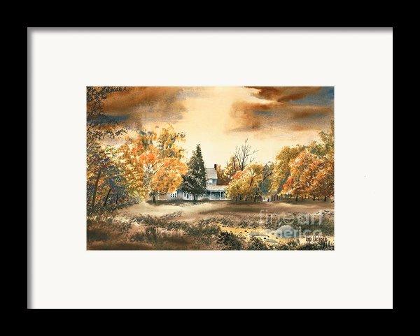 Autumn Sky No W103 Framed Print By Kip Devore