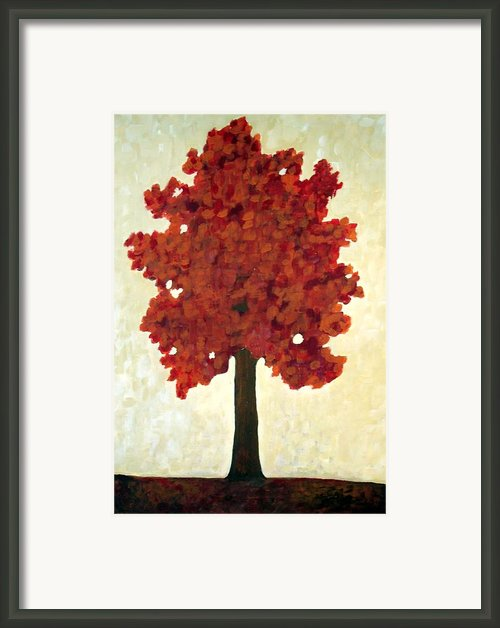 Autumn Tree Framed Print By Venus