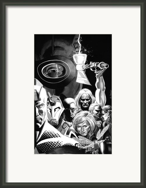 Avengers Ultimates Framed Print By Ken Branch