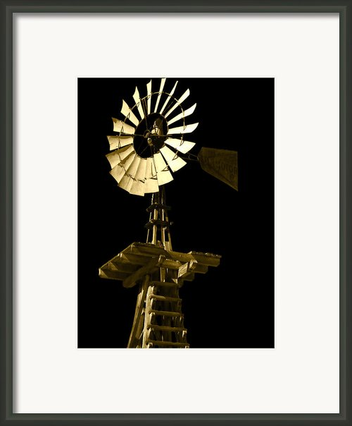 Awesome Aermotor Framed Print By Anne Mott