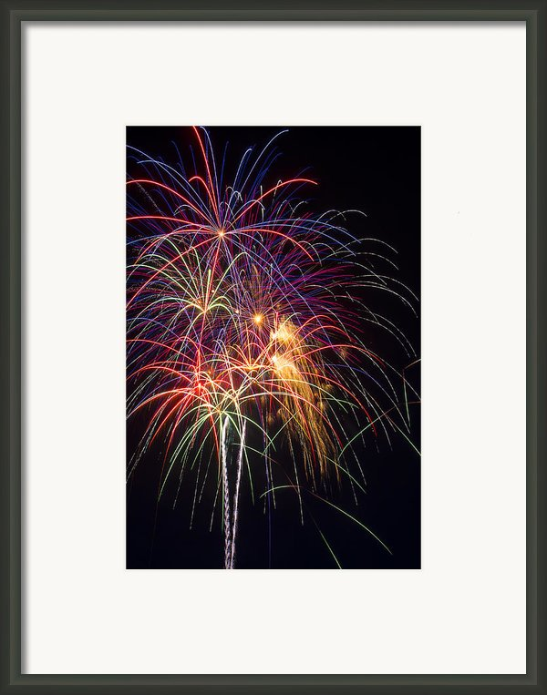 Awesome Fireworks Framed Print By Garry Gay