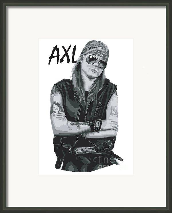 Axl Rose Framed Print By Caio Caldas