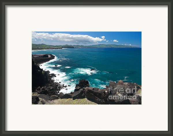 Azores Islands Ocean Framed Print By Gaspar Avila
