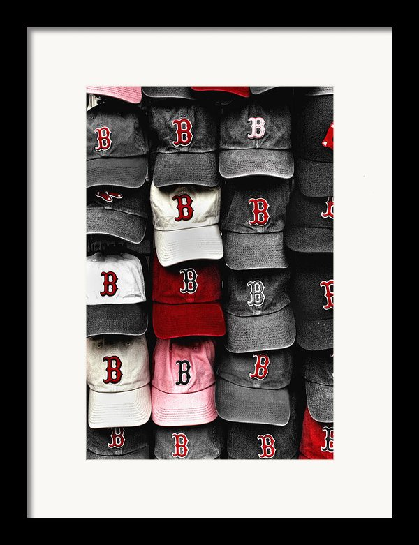 B For Bosox Framed Print By Joann Vitali