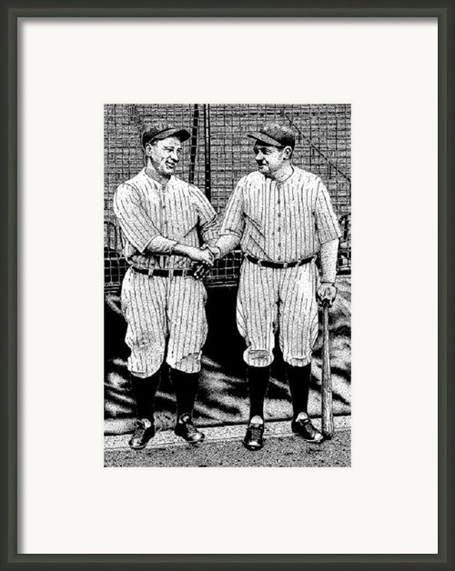 Babe And Lou Framed Print By Bruce Kay