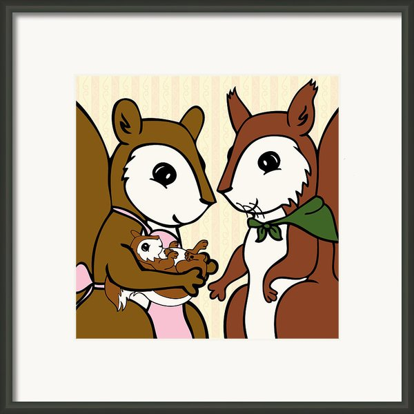 Baby Acorn Framed Print By Christy Beckwith