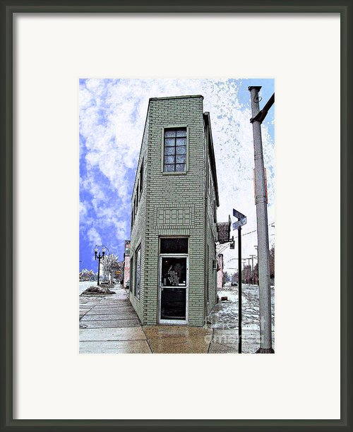 Baby Flatiron In River Rouge Framed Print By Mj Olsen