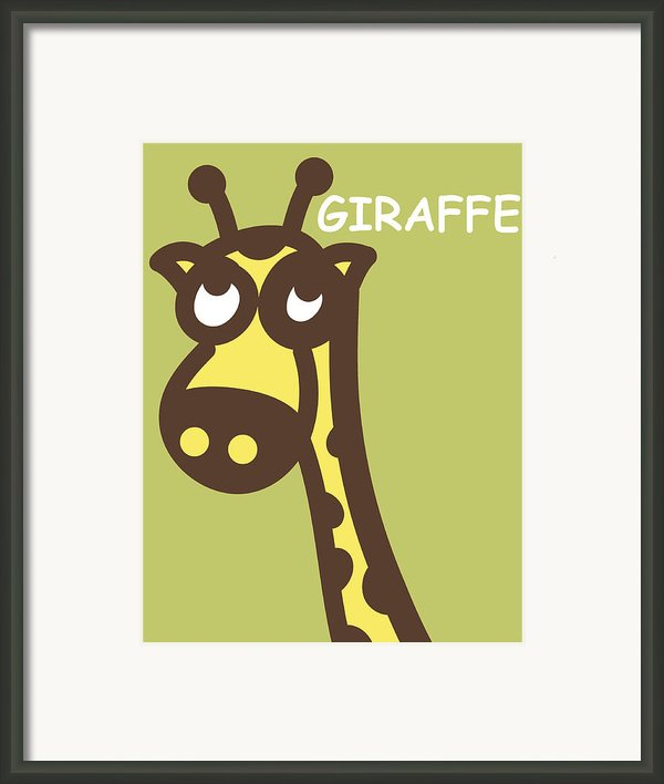 Baby Giraffe Nursery Wall Art Framed Print By Nursery Art