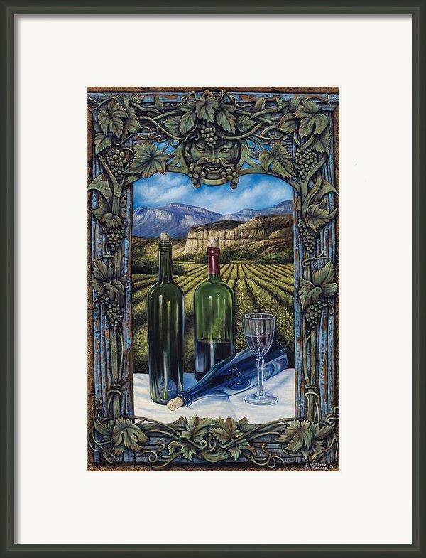 Bacchus Vineyard Framed Print By Ricardo Chavez-mendez
