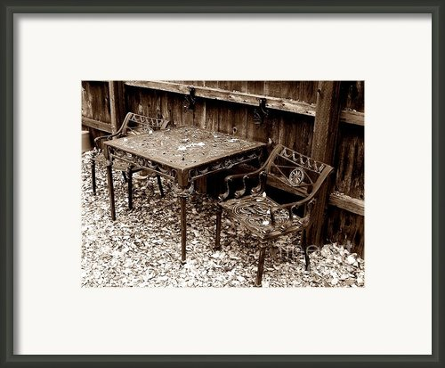 Back Yard Iron Framed Print By Tom Riggs