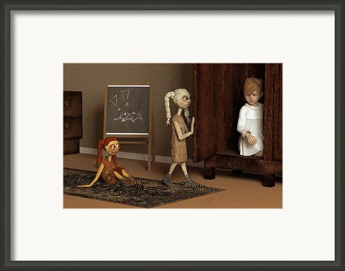Bad Dolls Framed Print By Liam Liberty