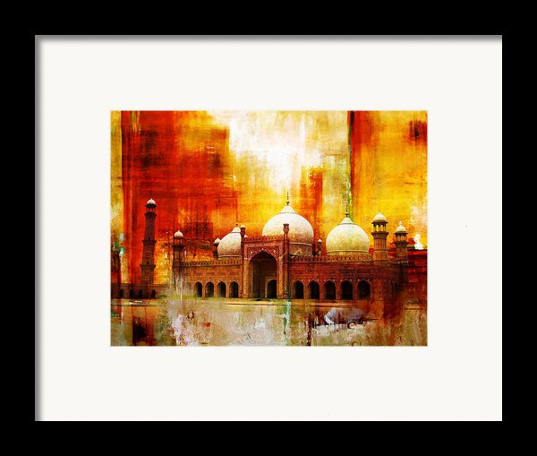 Badshahi Mosque Or The Royal Mosque Framed Print By Catf