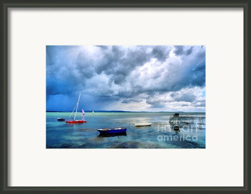 Balaton Lake Framed Print By Odon Czintos