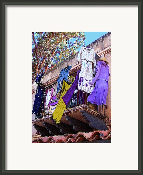 Balcony Framed Print By Ben And Raisa Gertsberg