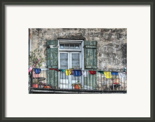 Balcony View Framed Print By Brenda Bryant