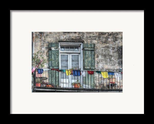 Balcony View Framed Print By Brenda Bryant