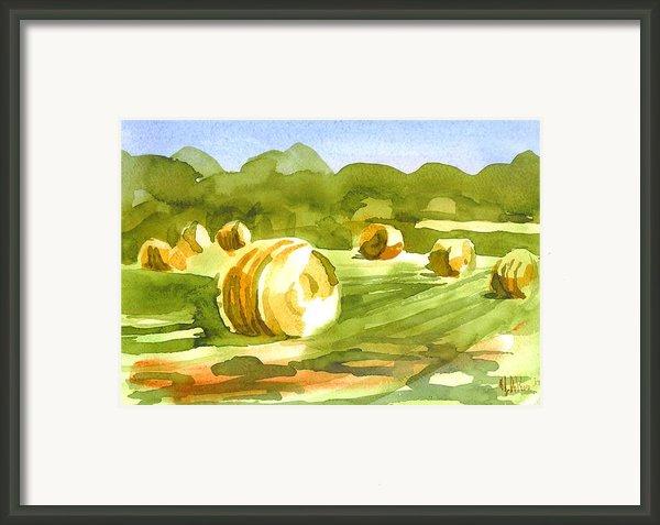 Bales In The Morning Sun Framed Print By Kip Devore