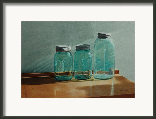 Ball Jars Take On Light Framed Print By Nancy Teague