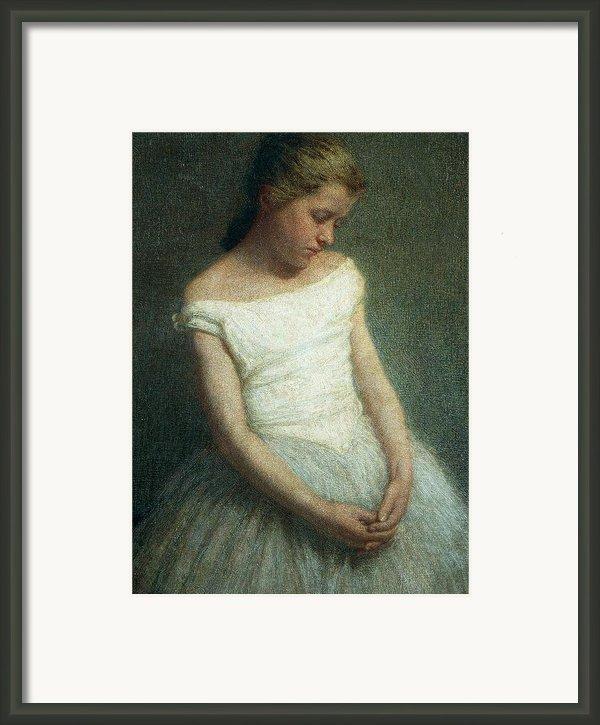 Ballerina Female Dancer Framed Print By Angelo Morbelli