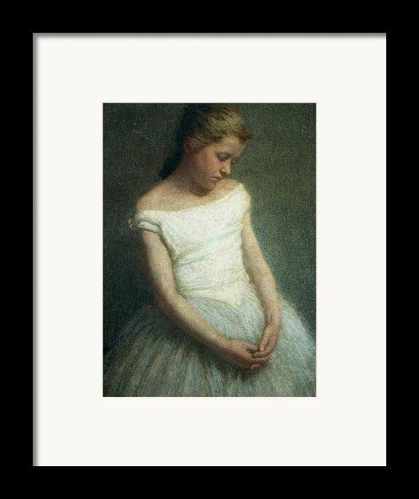 Ballerina Female Dancer Framed Print By Angelo Morbelli