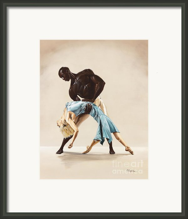 Ballet 1  Framed Print By Karen  Loughridge Klart