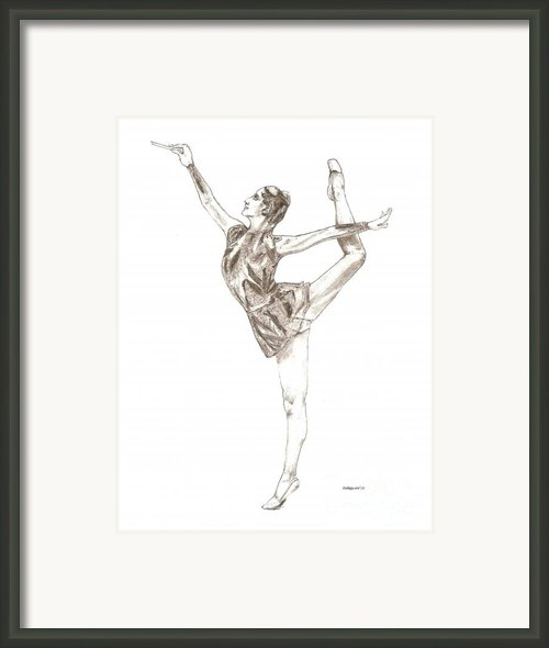 Ballet A Pencil Study In Black And White Framed Print By Mario  Perez