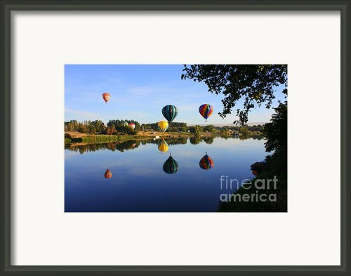 Balloons Heading East Framed Print By Carol Groenen