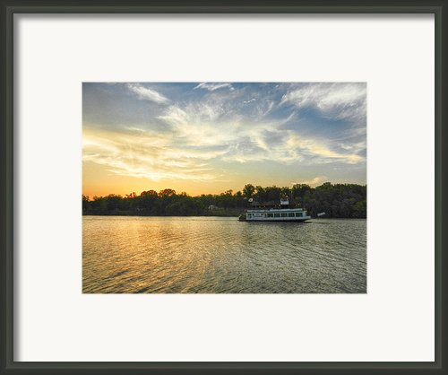 Bama Belle Sunset Framed Print By Ben Shields