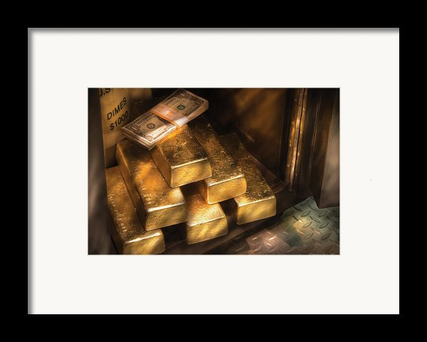 Banker - My Precious  Framed Print By Mike Savad