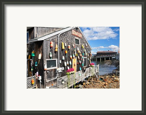 Bar Harbor Restaurant Framed Print By Betty Larue