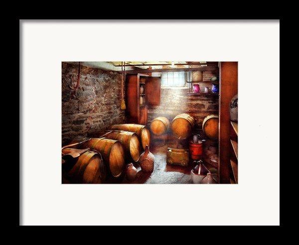 Bar - Wine - The Wine Cellar  Framed Print By Mike Savad
