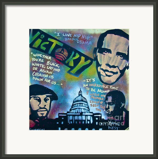 Barack And Common And Kanye Framed Print By Tony B Conscious