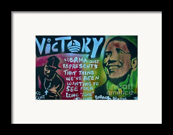 Barack And Fifty Cent Framed Print By Tony B Conscious