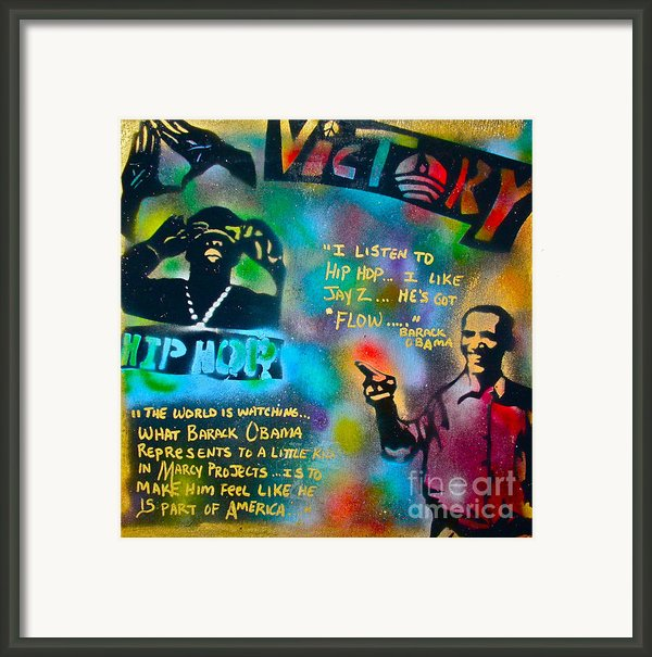 Barack And Jay Z Framed Print By Tony B Conscious