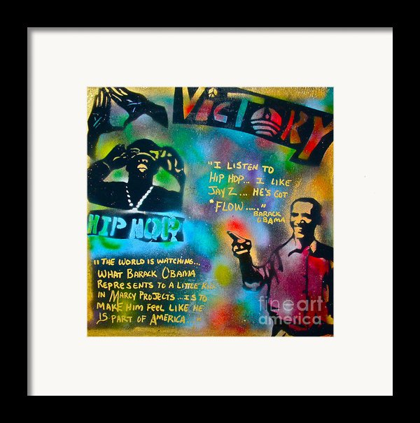 Barack And Jay Z Framed Print By Tony B Conscious