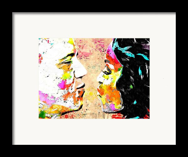 Barack And Michelle  Framed Print By Daniel Janda
