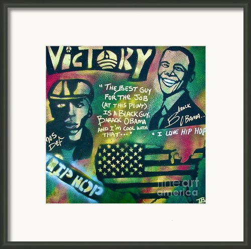 Barack And Mos Def Framed Print By Tony B Conscious