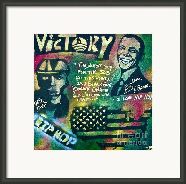 Barack And Mos Def Framed Print By Tony B Conscious