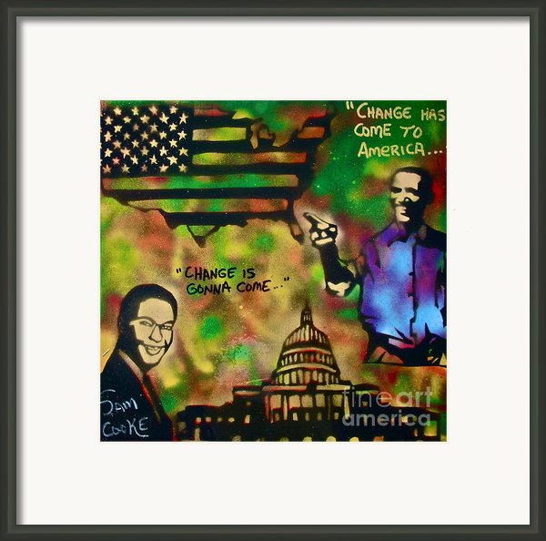 Barack And Sam Cooke Framed Print By Tony B Conscious
