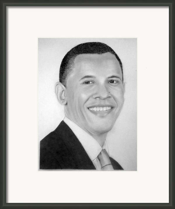Barack Framed Print By Kendrick Roy