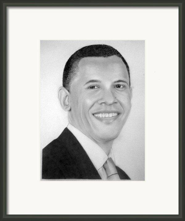 Barack Framed Print By Kendrick Roy