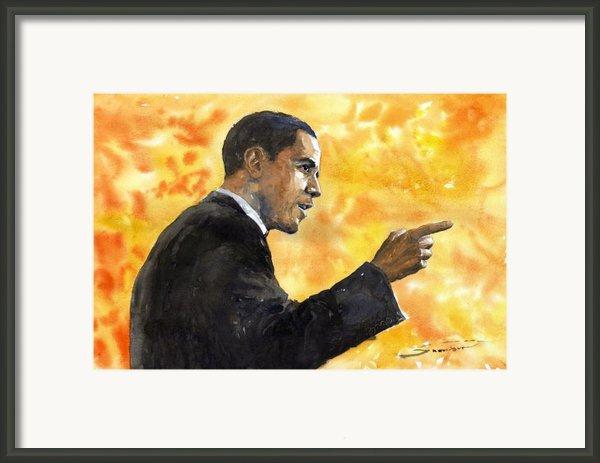 Barack Obama 02 Framed Print By Yuriy  Shevchuk
