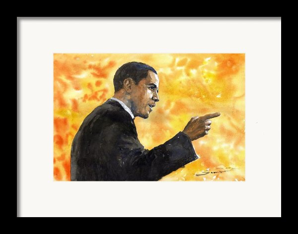 Barack Obama 02 Framed Print By Yuriy  Shevchuk